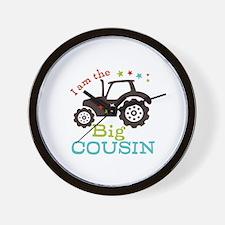 Big Cousin Tractor Wall Clock