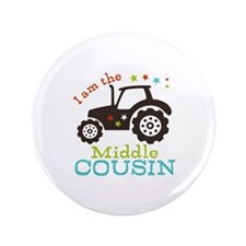 """Middle Cousin Tractor 3.5"""" Button (100 pack)"""