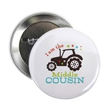 "Middle Cousin Tractor 2.25"" Button (100 pack)"