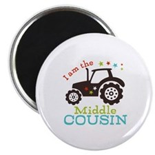 """Middle Cousin Tractor 2.25"""" Magnet (100 pack)"""