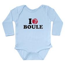 I love Boule Boccia Long Sleeve Infant Bodysuit