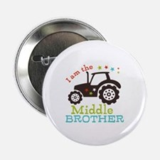 """Middle Brother Tractor 2.25"""" Button (10 pack)"""