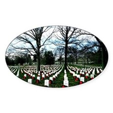 Arlington Cemetery graves with wreaths Decal