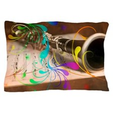 Clarinet Art Laptop Skin Band and Musci Pillow Cas