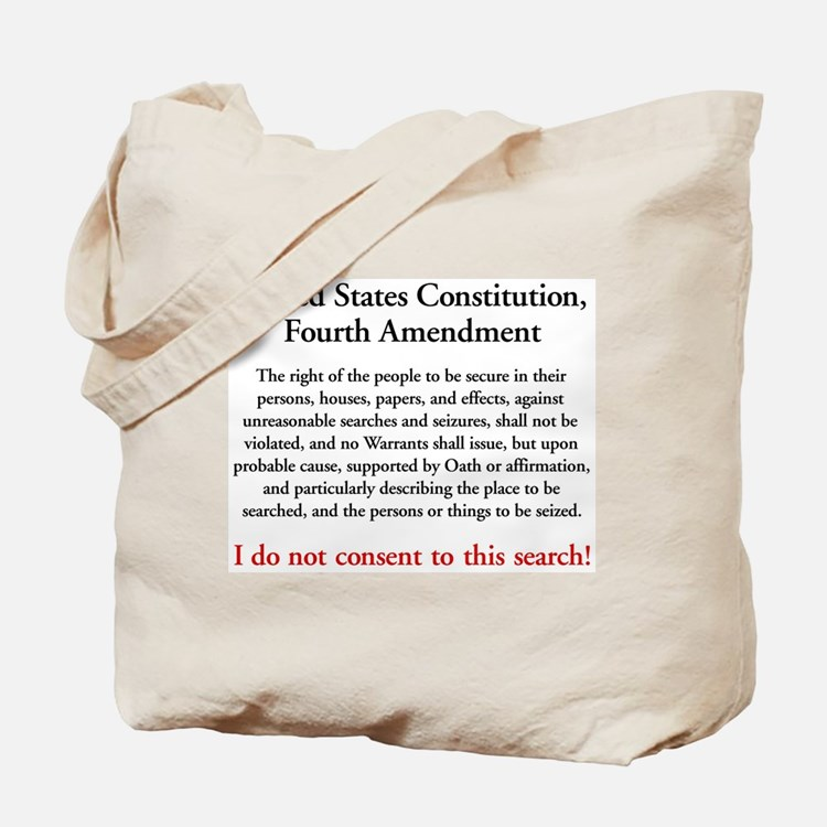 Fourth Amendment Tote Bag