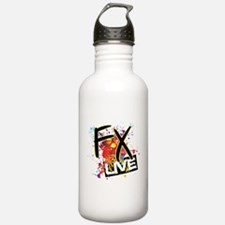 FX Live logo Water Bottle