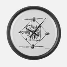 Tetragramaton III Large Wall Clock