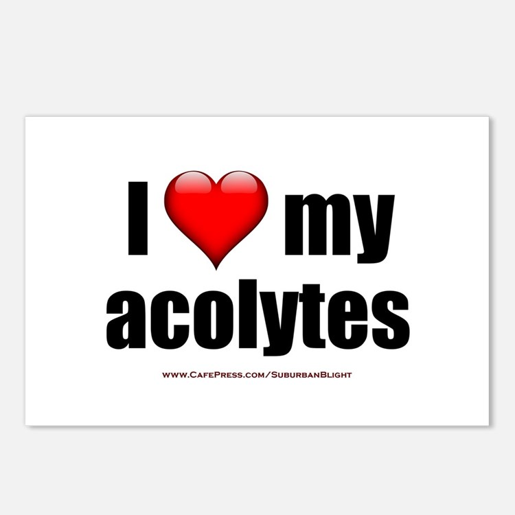 """Love My Acolytes"" Postcards (Package of 8)"