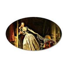 The Stolen Kiss, painting by 35x21 Oval Wall Decal