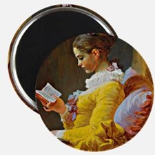 Young Girl Reading, painting by Jean-Honore Magnet