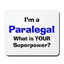 i'm a paralegal Mousepad