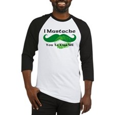 Mustache Irish Kiss Baseball Jersey
