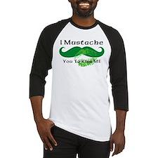 Mustache Irish Kiss Baseball Jersey