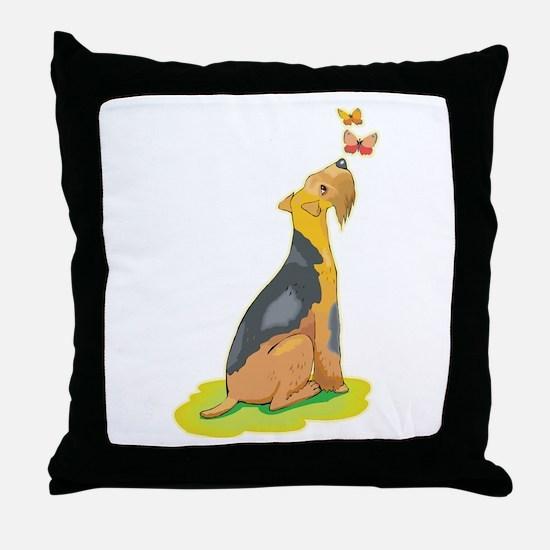 Wirehair Fox Terrier Throw Pillow