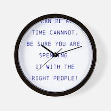 Money vs time Wall Clock