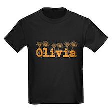 Orange Olivia Name T-Shirt