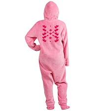 Hot Pink Hearts Footed Pajamas