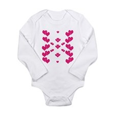Hot Pink Hearts Body Suit