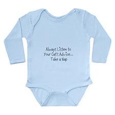 Cat Nap Long Sleeve Infant Bodysuit