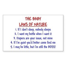 Baby Laws of Nature Rectangle Decal