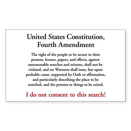 Fourth Amendment sticker