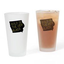 Gold is New Black Drinking Glass