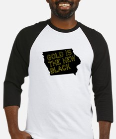 Gold is New Black Baseball Jersey