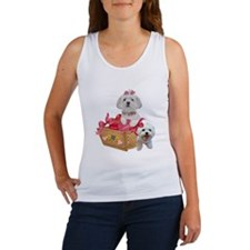 Maltese Basket of Hearts Tank Top