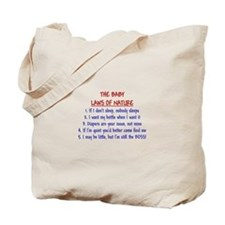 Baby Laws of Nature Tote Bag