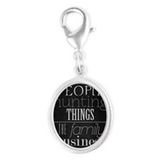 Supernatural  Silver Oval Charm