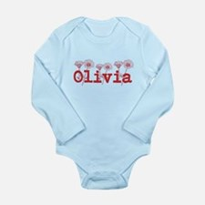 Red Olivia Name Body Suit