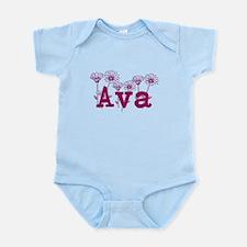 Purple Ava Name Body Suit