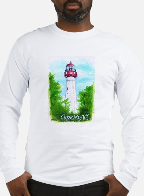 Cape May Lighthouse Long Sleeve T-Shirt