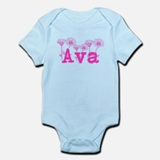 Pink Ava Name Body Suit