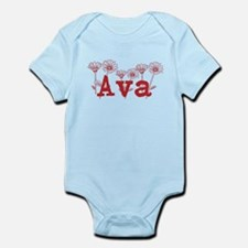 Red Ava Name Body Suit