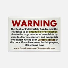 """No Soliciting Public Safety"" Rectangle Magnet"