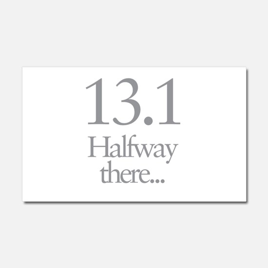 13.1 Running Halfway There Car Magnet 20 x 12