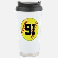 Softball Sports Player Number 91 Stainless Steel T