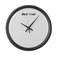 Cute Best times Large Wall Clock