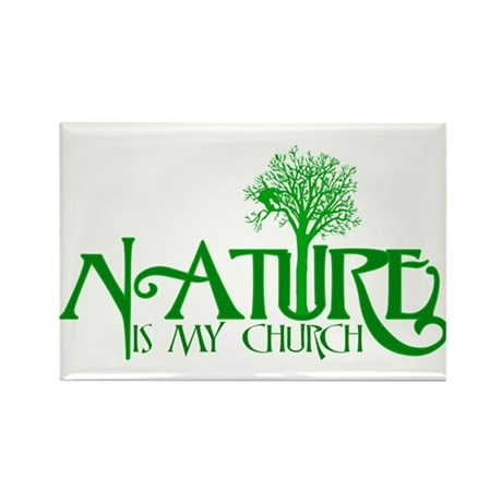 Nature is my Church Rectangle Magnet (10 pack)