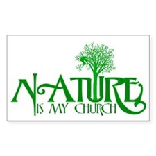 Nature Is My Church Rectangle Decal