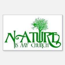 Nature is my Church Sticker (Rectangle)