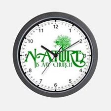Nature is my Church Wall Clock