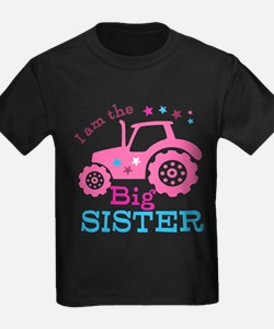 Pink Tractor Big Sister T