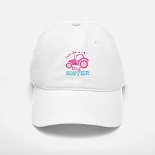 Pink Tractor Big Sister Baseball Baseball Cap