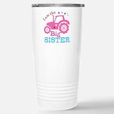 Pink Tractor Big Sister Travel Mug