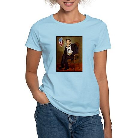 Lincoln & French Bulldog (lap) T-Shirt