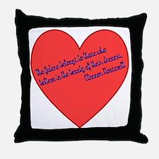 Elenor Roosevelt Dreams Throw Pillow