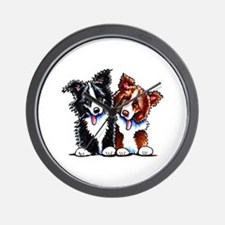 Little League Border Collies Wall Clock