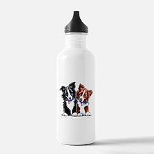 Little League Border Collies Water Bottle